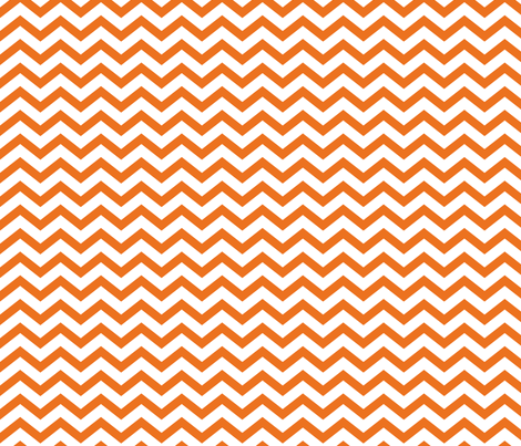 chevron orange and white fabric by misstiina on Spoonflower - custom fabric