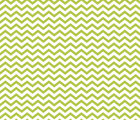 chevron lime green and white fabric by misstiina on Spoonflower - custom fabric