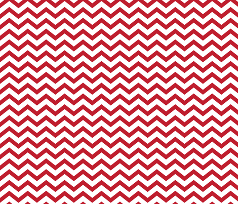 chevron red and white fabric by misstiina on Spoonflower - custom fabric