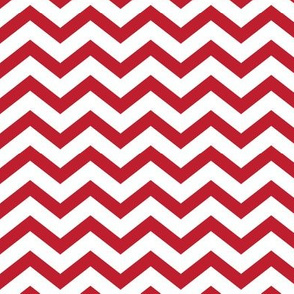 chevron red and white