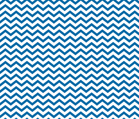 chevron blue and white fabric by misstiina on Spoonflower - custom fabric