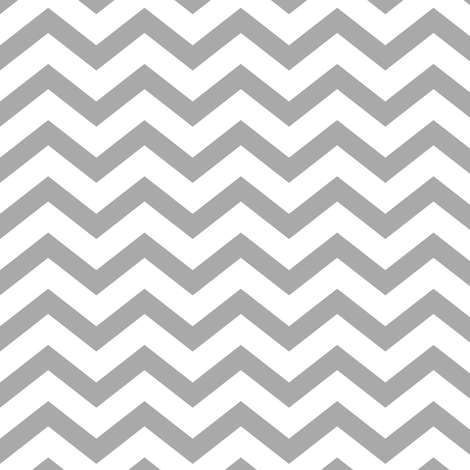 chevron grey and white fabric by misstiina on Spoonflower - custom fabric