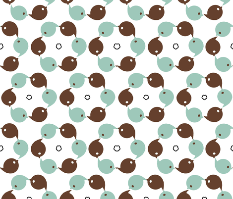 circle of birds fabric by cutekotori on Spoonflower - custom fabric