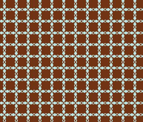 Dark Brown and Blue Dots fabric by gsonge on Spoonflower - custom fabric