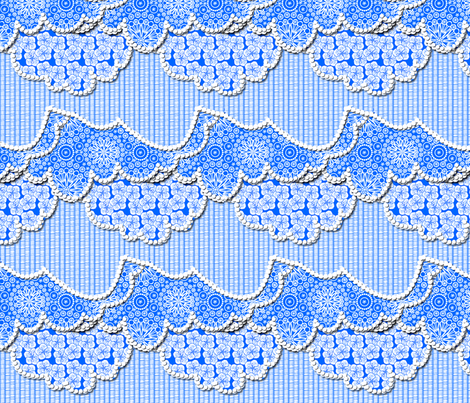 A Beautiful Day for a Picnic - Blue Sky fabric by glimmericks on Spoonflower - custom fabric