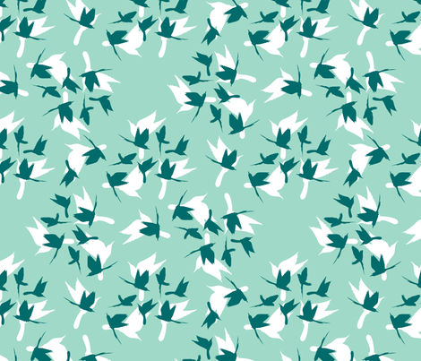 flocks of little birds fabric by hannafate on Spoonflower - custom fabric