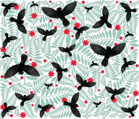 birds6 fabric by suziwollman on Spoonflower - custom fabric