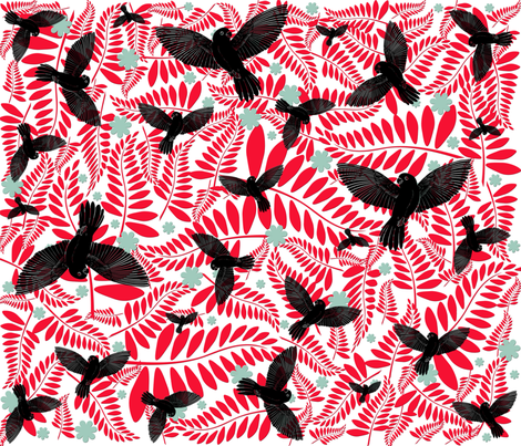 birds5 fabric by suziwollman on Spoonflower - custom fabric