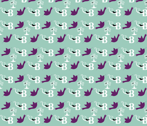 B is for Bird fabric by studio13eleven on Spoonflower - custom fabric