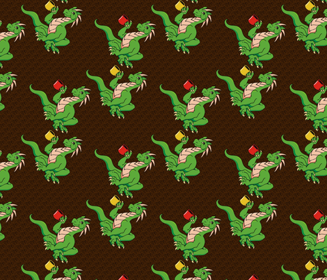 The coffee dragon fabric by hannafate on Spoonflower - custom fabric