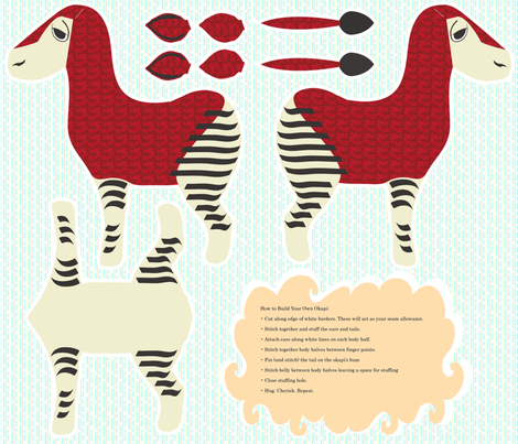 Buld Your Own Okapi fabric by drizzlydaydesignco on Spoonflower - custom fabric