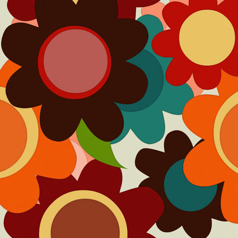 autumn flowers fabric by scrummy on Spoonflower - custom fabric