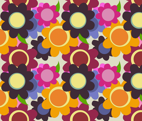 summer flowers fabric by scrummy on Spoonflower - custom fabric