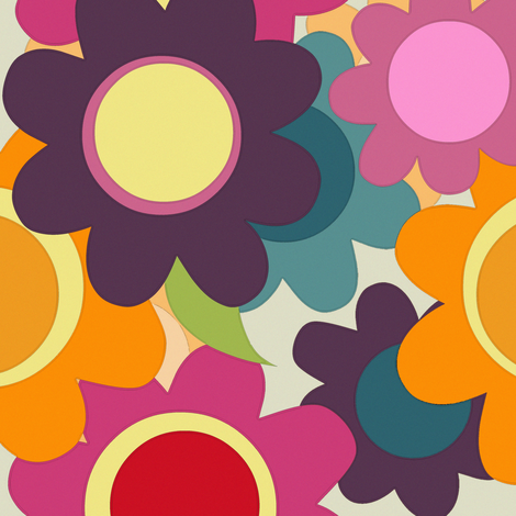 spring flowers fabric by scrummy on Spoonflower - custom fabric