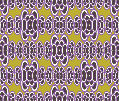 Groovy Iguana bg - Lavender Green fabric by owlandchickadee on Spoonflower - custom fabric