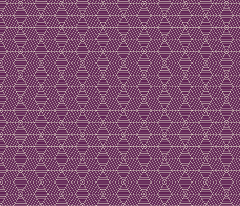 Hexagon Webs in Purple