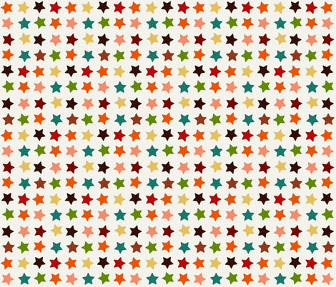 autumn stars fabric by scrummy on Spoonflower - custom fabric