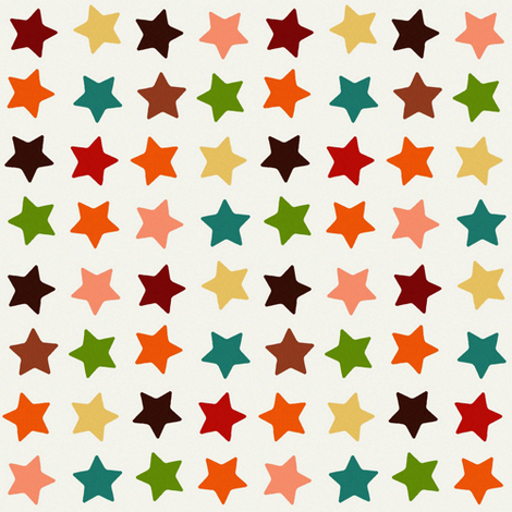 autumn stars fabric by scrummy on Spoonflower - custom fabric