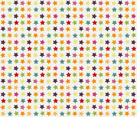 spring stars fabric by scrummy on Spoonflower - custom fabric