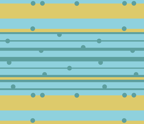 Stripes and Dots- Horizontal fabric by gsonge on Spoonflower - custom fabric