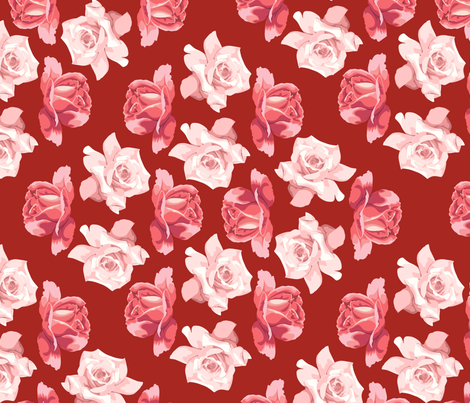 rose garden fabric by hannafate on Spoonflower - custom fabric