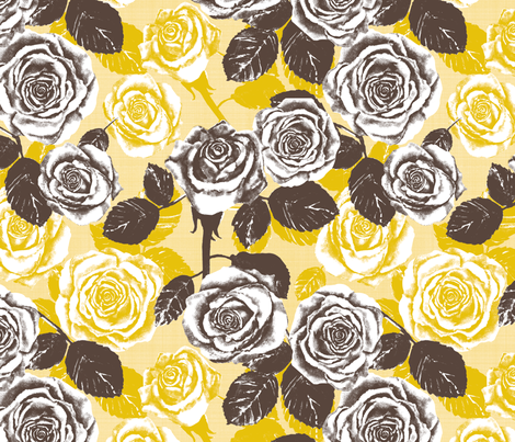 Autumn Roses fabric by twobloom on Spoonflower - custom fabric