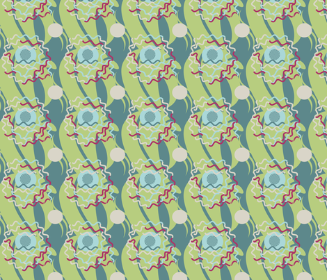 Victorian Clown fabric by captiveinflorida on Spoonflower - custom fabric