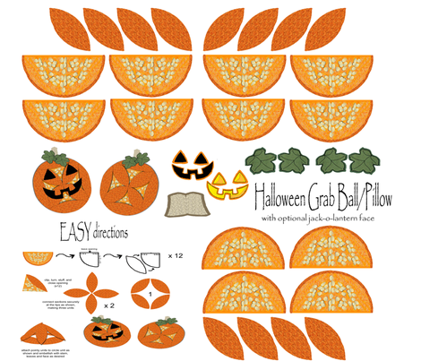 Haloween Grab Ball Pillow fabric by topfrog56 on Spoonflower - custom fabric