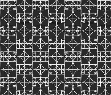 Black Fibonacci Spiral