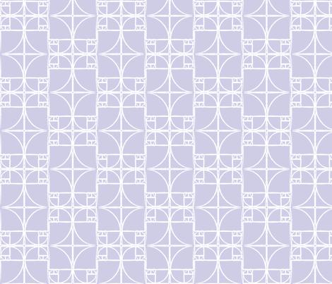 Lavender Fibonacci Spiral fabric by pantsmonkey on Spoonflower - custom fabric