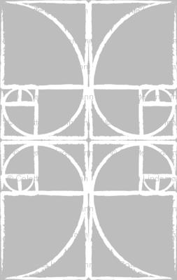 Pale Gray Fibonacci Spiral