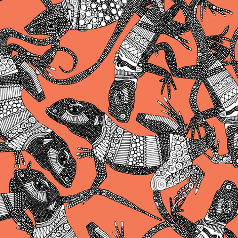 just lizards fiesta fabric by scrummy on Spoonflower - custom fabric