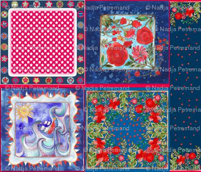 coupon foulards_bleu_rouge