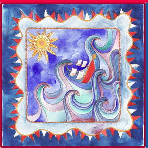 coupon foulards_bleu_rouge