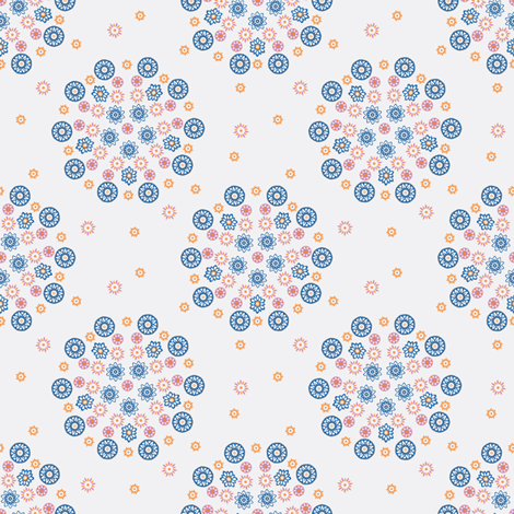 Isabelle Circles White fabric by kezia on Spoonflower - custom fabric