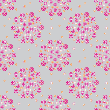 Isabelle Circles Grey fabric by kezia on Spoonflower - custom fabric