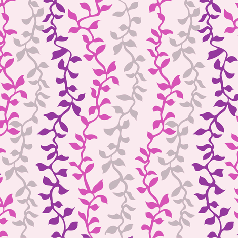 Falling vine stripe pink fabric by kezia on Spoonflower - custom fabric