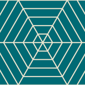 Hexagon Webs in Teal