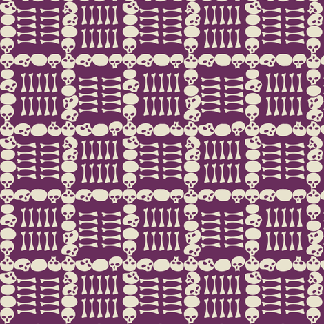 Catacombs in Purple fabric by sophiebenoit on Spoonflower - custom fabric