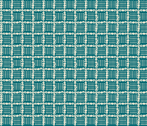 Catacombs in Teal fabric by sophiebenoit on Spoonflower - custom fabric