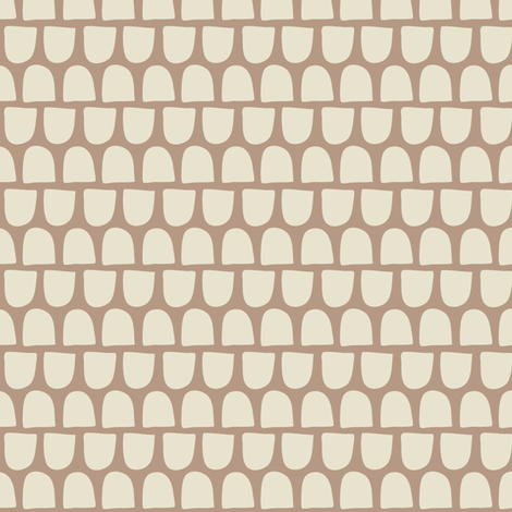 Ghosts in Cafe au Lait fabric by sophiebenoit on Spoonflower - custom fabric
