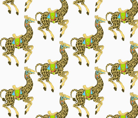 Golly, Giraffes!-ch fabric by kebrown on Spoonflower - custom fabric