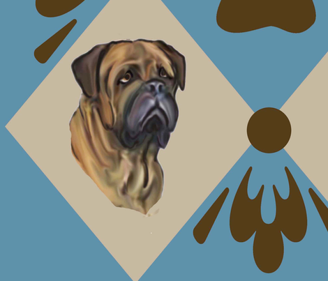 Bullmastiff quilt Two fabric by dogdaze_ on Spoonflower - custom fabric