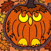 Jack Owl Lanterns Plushie Pair