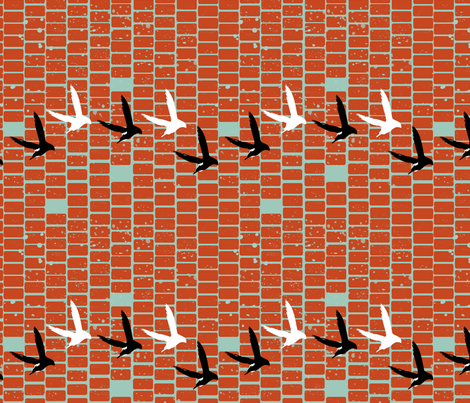 swifts fabric by beary_organics on Spoonflower - custom fabric