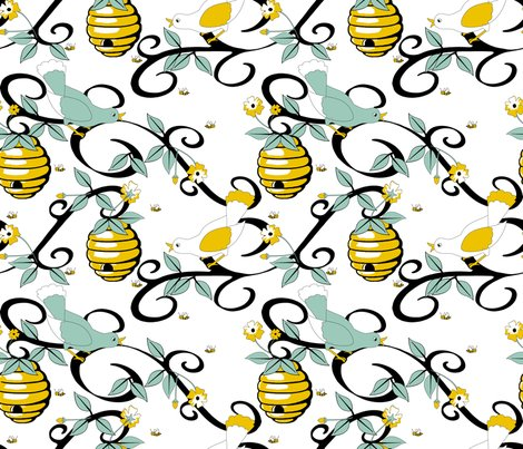 Rrall_about_the_birds_and_the_bees_-_restricted_colours__-_spoonflower_white_shop_preview
