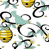 Rrall_about_the_birds_and_the_bees_-_restricted_colours__-_spoonflower_white_shop_thumb