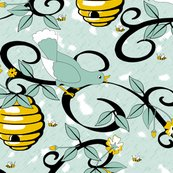 Rrall_about_the_birds_and_the_bees_-_restricted_colours__-_spoonflower_blue_shop_thumb
