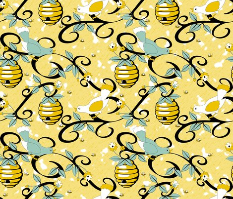 Rrrall_about_the_birds_and_the_bees_-_restricted_colours__-_spoonflower_yellow_shop_preview