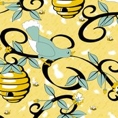 Rrrall_about_the_birds_and_the_bees_-_restricted_colours__-_spoonflower_yellow_shop_thumb